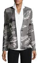 Misook Floral Metallic Jacket, Plus Size