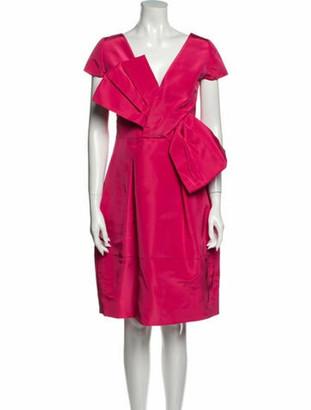 Oscar de la Renta 2014 Knee-Length Dress Pink