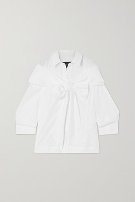 Simone Rocha Bow-embellished Cotton-poplin Shirt - White