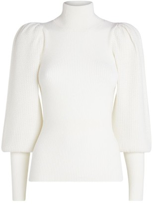 Alice + Olivia Babette Puff-Sleeved Sweater