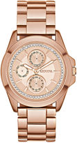 GENEVA Womens Crystal-Accent Boyfriend Bracelet Watch