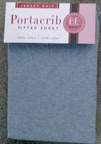 Kids Line Jersey Knit Fitted Porta Crib Sheet - Chambray Blue