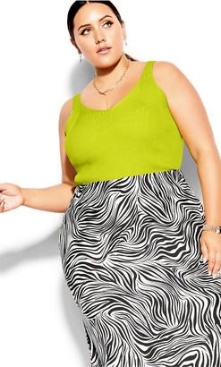 City Chic Safari Skirt - zebra print