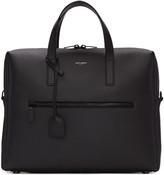 Saint Laurent Black Leather Briefcase