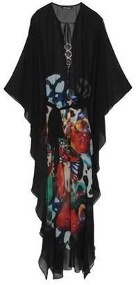 Roberto Cavalli Embellished Printed Silk-chiffon Kaftan