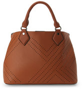 Urban Expressions Tan Bianca Perforated Satchel