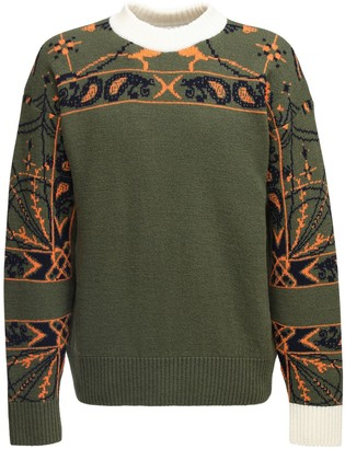 Sacai Dr. Woo Bandana Wool Knit Sweater