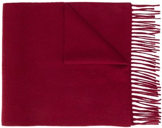 N.Peal Fringed Knitted Scarf