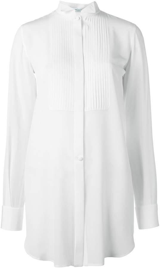 Givenchy pleated bib shirt