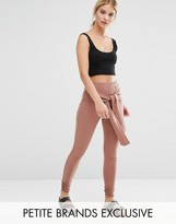 One Day Petite Legging With Wrap Front Detail