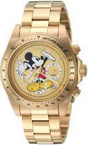Invicta Men's 'Disney Limited Edition' Quartz Stainless Steel Casual Watch, Color:-Toned (Model: 25196)