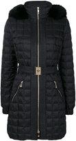 Versace fur trim puffer jacket