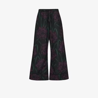 Desmond & Dempsey Narcissus cropped pyjama bottoms