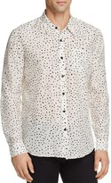 Vince Dot Print Silk Blend Slim Fit Button-Down Shirt