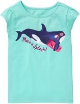 Gymboree Sky Blue 'Make a Splash' Whale Graphic Tee - Infant & Toddler