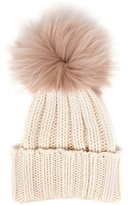 Inverni Cashmere and Fur Beanie