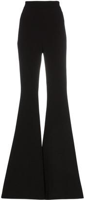 Balmain high-waisted flared silk-crepe trousers