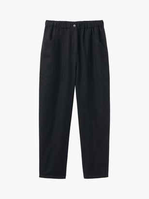 Toast Wool Cotton Herringbone Trousers, Black