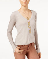 Free People Anna V-Neck Long-Sleeve T-Shirt