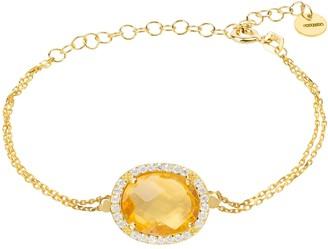 Latelita Beatrice Oval Gemstone Bracelet Gold Citrine Hydro