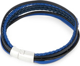 Tateossian Cobra multi-strand leather bracelet