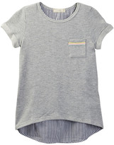 Soprano French Terry Poplin Stripe Tunic (Big Girls)