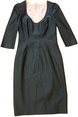 Prada Turquoise Wool Dresses