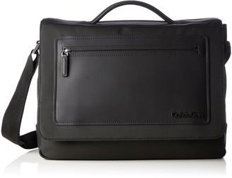 Calvin Klein Jeans Men's Zone One Handle Letter Case Handbags 38 x 28 x 11 cm Black Size: 38x28x11 cm