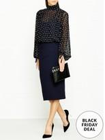 DKNY Long Sleeve Mock Neck Knitted Skirt Dress