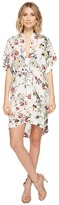 Brigitte Bailey Zanna Short Sleeve Floral Dress Women's Dress