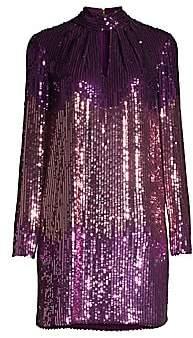 Kate Spade Women's Gradient Long-Sleeve Sequin Mini Dress