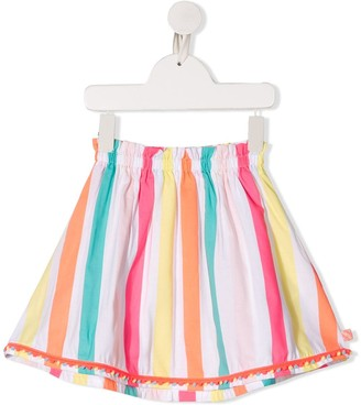 Billieblush striped A-line skirt