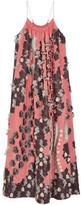 Chloé Floral Fil Coupé Silk Gown - Coral