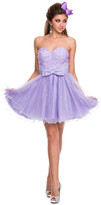 Nox Anabel - 2848 Sequined Sweetheart Tulle A-line Dress