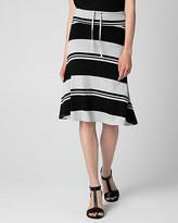 Le Château Stripe Jersey Midi Skirt