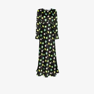 BERNADETTE Jane floral silk maxi dress