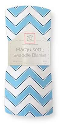 Swaddle Designs Marquisette Swaddling Blanket, Premium Cotton Muslin, Lavender Chevron