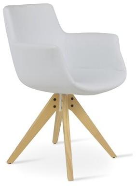 sohoConcept Bottega Upholstered Parsons Chair Upholstery Color: White