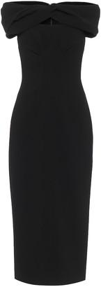Emilia Wickstead Padma off-shoulder crepe midi dress