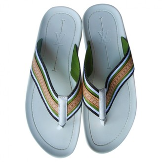 Louis Vuitton White Rubber Sandals