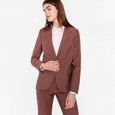 Paul Smith Women's Dusty Pink Crosshatch Wool-Mohair Blazer