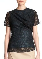 Carven Draped Lace Top