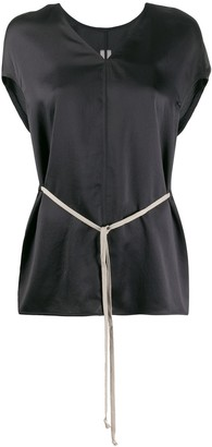 Rick Owens drawstring-waist V-neck blouse