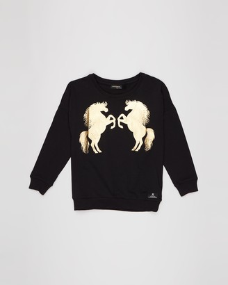 Rock Your Kid Wild Horses Long Sleeve T-Shirt - Kids