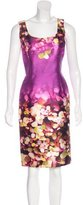 Oscar de la Renta Abstract Print Silk-Blend Dress