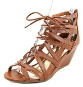 Material Girl Hera Women Open Toe Synthetic Wedge Sandal.