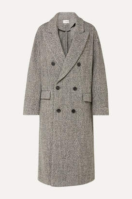 Etoile Isabel Marant Habra Double-breasted Boucle Coat - Gray