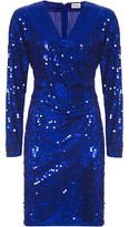 Vintage Collection Oleg Cassini Sapphire Sequin Dress