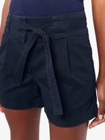 Oasis Tie Belt Cotton Shorts