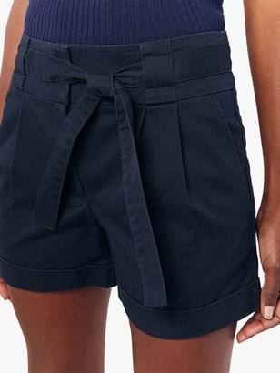 Oasis Tie Belt Cotton Shorts
